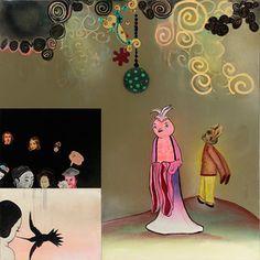 "Phyllis Bramson ""In Praise of Folly #4 - Hummingbird Love"" 2013  #art #painting #contemporary #phyllisbramson #littlejohncontemporary"