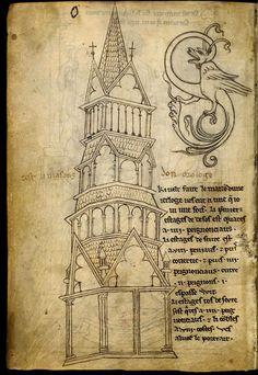 Le carnet de Villard de Honnecourt (vers 1220-1230), fol. 12 - Paris, Bibliothèque nationale de France, Département des manuscrits, Français 19093