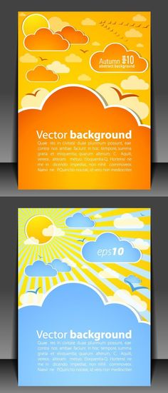 Lovely book covers vector
