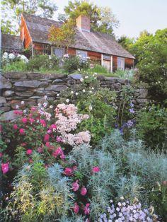Tasha Tudor's home surrounded by her gardens