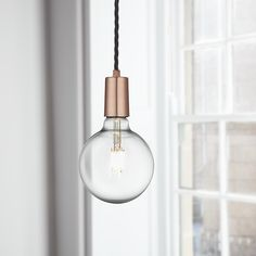 Our newest addition to the pendant light collection- Edison Sleek 1 Wire Pendant in Copper: https://www.industville.co.uk/collections/ceiling-lights-lampshades/products/vintage-sleek-edison-pendant-copper