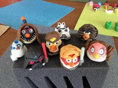 Angry Birds Star Wars clay figures // Click for more Angry Birds creations