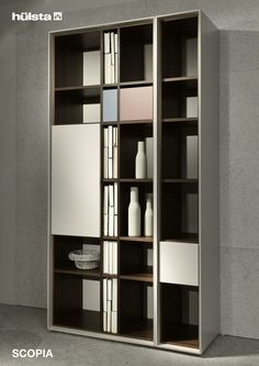 Boekenkast Estante Bookcase Brown and White 0210