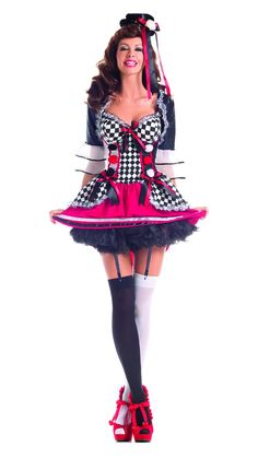eb907811a62 Party King Pretty Harlequin Clown Costume Women s Costume - Nastassy