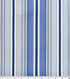 Home Essentials Print Fabric-Stitch Stripe Seaside, , hi-res Cotton Canvas, Canvas Fabric, Nautical Home, Nautical Stripes, Chair Pads, Chair Fabric, Home Decor Fabric, Drapery Fabric, Outdoor Fabric