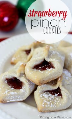 Strawberry Pinch Cookies are easy to make with just a few ingredients. However, they look and taste so fancy no one will know how easy they are to make.