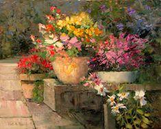Warm Impressionism in Kent Wallis' Paintings Watercolor Landscape, Landscape Art, Watercolor Flowers, Landscape Paintings, Watercolor Art, Painting Flowers, Landscapes, Impressionist Art, Impressionism