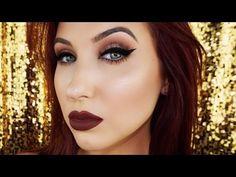 Cat Eye & Vampy Lips | Fall Makeup Tutorial - YouTube