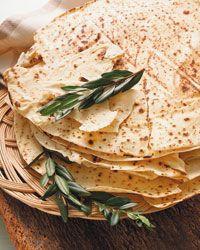 pane carasau, a very thin crispy bread of Sardinia