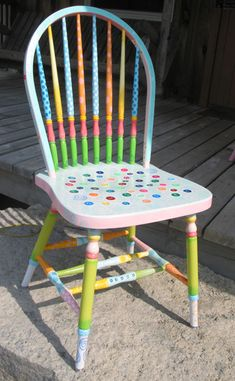 Image detail for -whimsical hand painted art furniture pic 2 www furniturejodhpur com 71 . Painted Wood Chairs, Whimsical Painted Furniture, Hand Painted Furniture, Funky Furniture, Art Furniture, Furniture Makeover, Painting Furniture, Vintage Furniture, Chair Painting