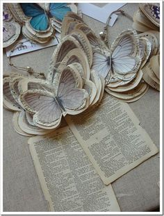book page butterflies