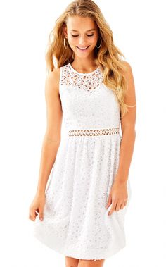 776e3f647ed8fb Alivia Dress in Resort White Sea Spray eyelet  WomenClothingStoresNearMe