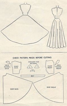 "1948 Vintage Sewing Pattern B32"" EVENING DRESS (R149)"