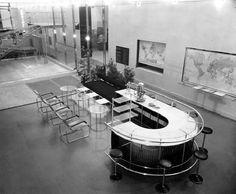Walter Gropius, Marcel Breuer, Gesellschaftsraum, Ausstellung des Deutschen Werkbundes in Paris, 1930
