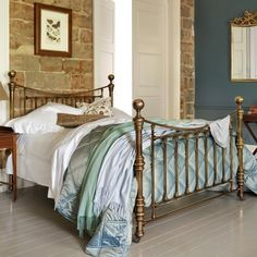 Austen Victorian Brass/Nickel Bed | AND SO TO BED this was what I first thought of