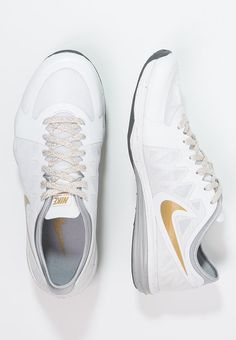 hot sale online f5136 badcd Nike Performance DUAL FUSION TR 3 - Sports shoes - white metallic gold pure