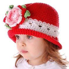Hats Crochet Patterns Part 3 - Beautiful Crochet Patterns and Knitting Patterns Crochet Beanie Hat, Crochet Baby Hats, Crochet For Kids, Baby Knitting, Crochet Hooks, Knitted Hats, Knit Crochet, Sombrero A Crochet, Knitting Patterns