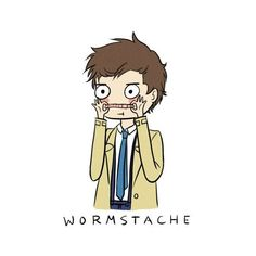 Wormstache by PlaysWithScissors05 ❤ liked on Polyvore featuring filler and supernatural