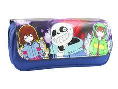 81dd3571c6af Video game undertale sans print pencil case bag box children for kids 031  Zipper Pencil Case