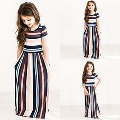 New Fashion Striped Short Sleeve Dress  #New #Hot #Discount #Sale #Buy #Trend