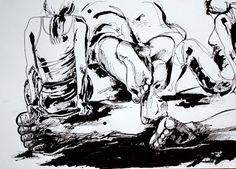 Herkkupurkki: piirros, luonnos, living model, croquis By: Satu Laaninen
