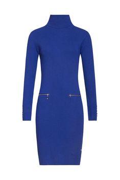 Kobaltové šaty s rolákem Smashed Lemon Adrienne High Neck Dress, Model, Dresses, Fashion, Turtleneck Dress, Vestidos, Moda, Fashion Styles