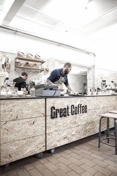 OSB Board by PostLiving. I love the feel and texture of OSB board and feel it has lots of potential uses in the home. Rustic Coffee Shop, My Coffee Shop, Coffee Shop Design, Coffee Shops, Great Coffee, Coffee Cafe, Coffee Shop Counter, Coffee Shop Interior Design, Rustic Cafe