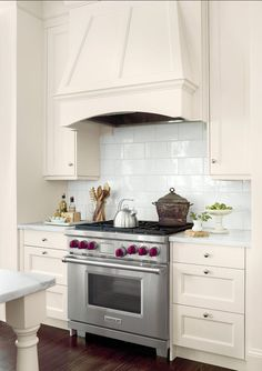Kitchen Backsplash Here The Overscale 6 By 9 Inch Subway Tiles By
