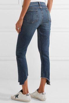 rag & bone - The Capri Distressed Mid-rise Skinny Jeans - Blue - 26