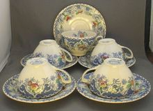 Enoch Wood & Sons Gleneagles Cups & Saucers Burslem England.... I like this pattern too!