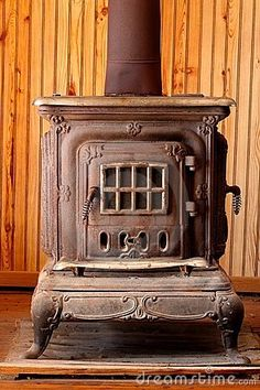 my summer project: Antique Wood Burning Stove Heater renovation