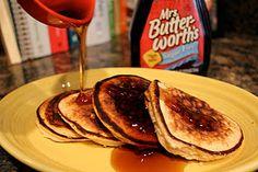 Peanut Butter Pancakes - Gluten Free - Weight Watchers friendly.  Enjoy!
