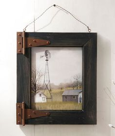 Windmill barn door rustic wood picture frame shabby country wall art chic decor present large for Country Wall Art, Rustic Wall Art, Rustic Wood, Weathered Wood, Wood Wood, Barn Wood Picture Frames, Picture On Wood, Door Picture, Frame Crafts