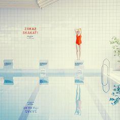"""좋아요 1,300개, 댓글 36개 - Instagram의 Mária Švarbová(@maria.svarbova)님: """"pool only for swimmers 🏊🏻 #photography #photographer #art #architecture #modern #design #creative…"""""""