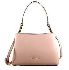 39b19849abbd Michael Kors Sofia Large East West Saffiano Leather Satchel Crossbody Bag  Purse Tote Handbag (Fawn)