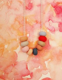 Necklace from MadeByEmilyGreen. Candy bright and such beautiful product photography.
