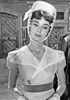 Audrey Hepburn on set of War and Peace