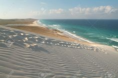 The Beach Of Deleisha On The Island Of Socotra, Yemen Stock Photo ...