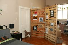 Pallet display wall - would need less maybe this could work?