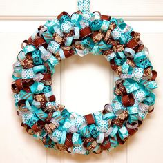 Learn how simple it is to create a ribbon wreath in any color combination!