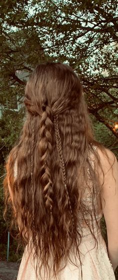 Dance Hair Inspo Curly Brown Long Hair Boho