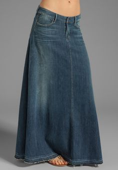 CITIZENS OF HUMANITY JEANS Anja Maxi Skirt in Dizzy