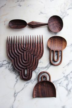 bespoke artisan kitchen accessories the design is in the details Current work by Brooklyn-based American woodworker and sculptor Ariele Alasko. via the artist's site Into The Woods, Paperclay, Wooden Spoons, Wood Design, Granada, Wood Carving, Wood Art, Wood Wood, Wood Crafts