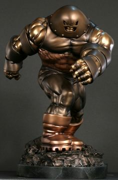 Juggernaut Faux Bronze statue Sculpted by: The Shiflett Brothers and Randy Bowen Release Date: January 2010 Edition Size: 300 Order Of Release: Phase IV (statue Comic Book Characters, Marvel Characters, Comic Character, Comic Books Art, Comic Art, Marvel Villains, Marvel Comics, Dojo, Juggernaut Marvel