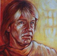 #RobinAskwith #portrait acrylic and oil on canvas. A lovely interesting man. I painted him at rest, without his trademark cheeky grin.
