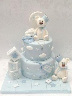 Christening bears - Cake by Samantha's Cake Design - CakesDecor