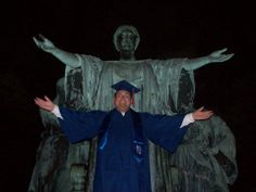 Here is one of our current MA students, Mike Nelson, with the Alma Mater in 2012, ready to graduate with his BA. #UniversityofIllinois #UIUC #Illini