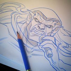 Instagram media by evanakisa - Deathklock. featuring Goliath! Blue pencil, gray copic, printer paper. Lol no just. He be good doing metal x) Quick after midnight sketch on paper, more #metalocalypse eps *wink*  Support the series! #metalocalypse #deathklok  #animation #thegargoyles #goliath #metal #deathmetal #brutal #disney #art #sketch #illustration #igart #draw #drawing #2d #nathanexplosion