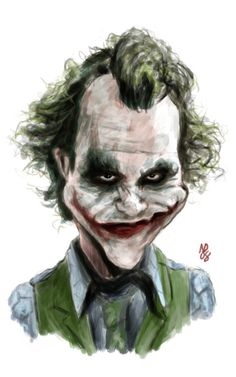 Caricature Of The Joker | another shot at heath ledger as the joker this one might end up being ...