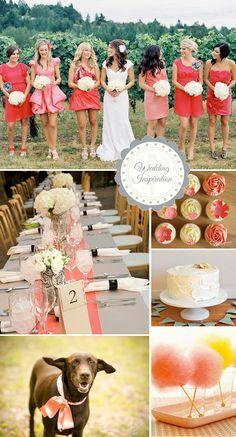 Coral. Wedding.